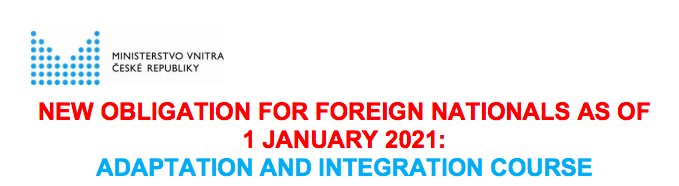 Obligatory adaptation and integration courses for foreigners in the Czech Republic from 1.1.2021
